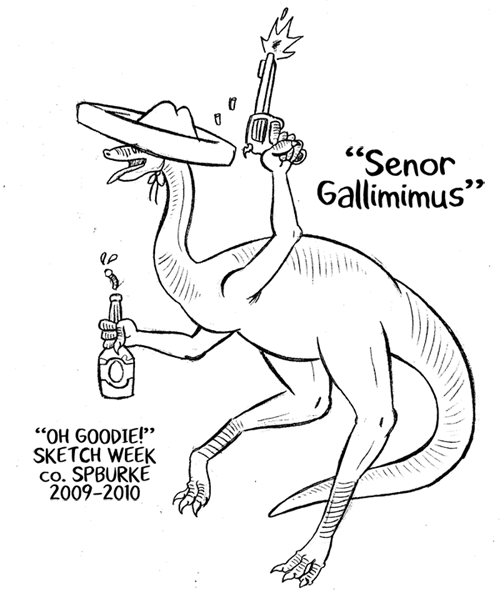 "Sketch Week #6 – ""Senor Gallimimus"""