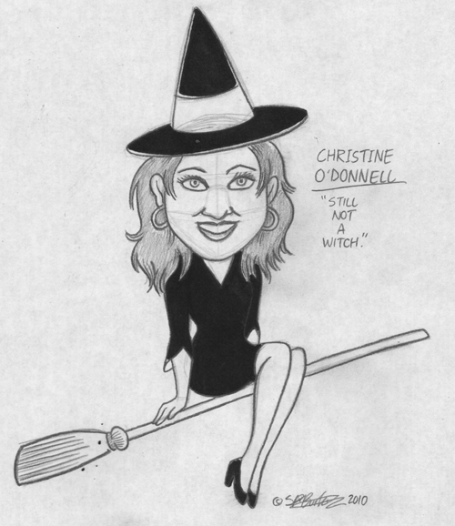 "Sketch Week #13: ""Christine O'Donnell: Still Not A Witch"""