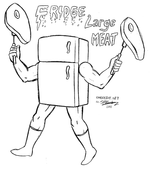 "Sketch Week #16 – ""Fridge Large Meat"""