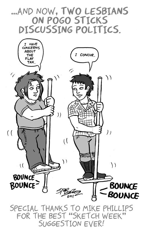 "Sketch Week #23 – ""Two Lesbians"""